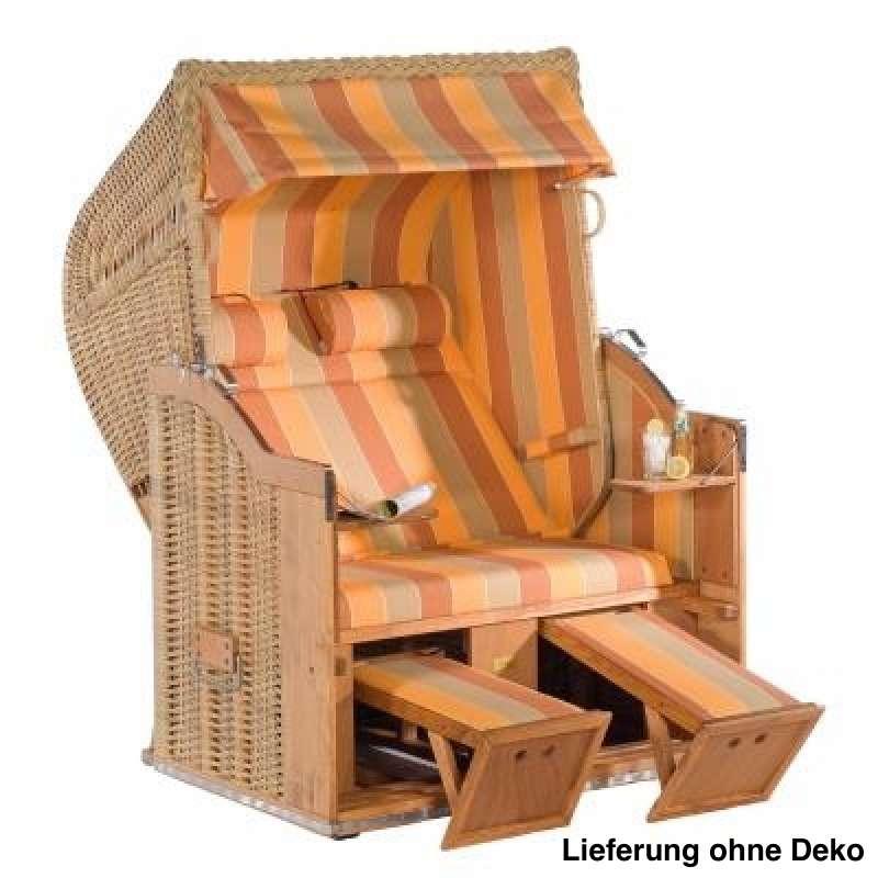 Sonnenpartner Strandkorb Classic 2 Sitzer Halbliegemodell naturoptik orange
