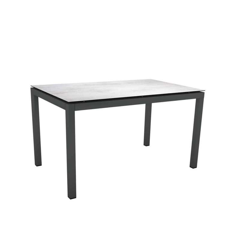 Stern Gartentisch 130x80 cm Aluminium anthrazit/Silverstar 2.0 Dekor wählbar Tisch