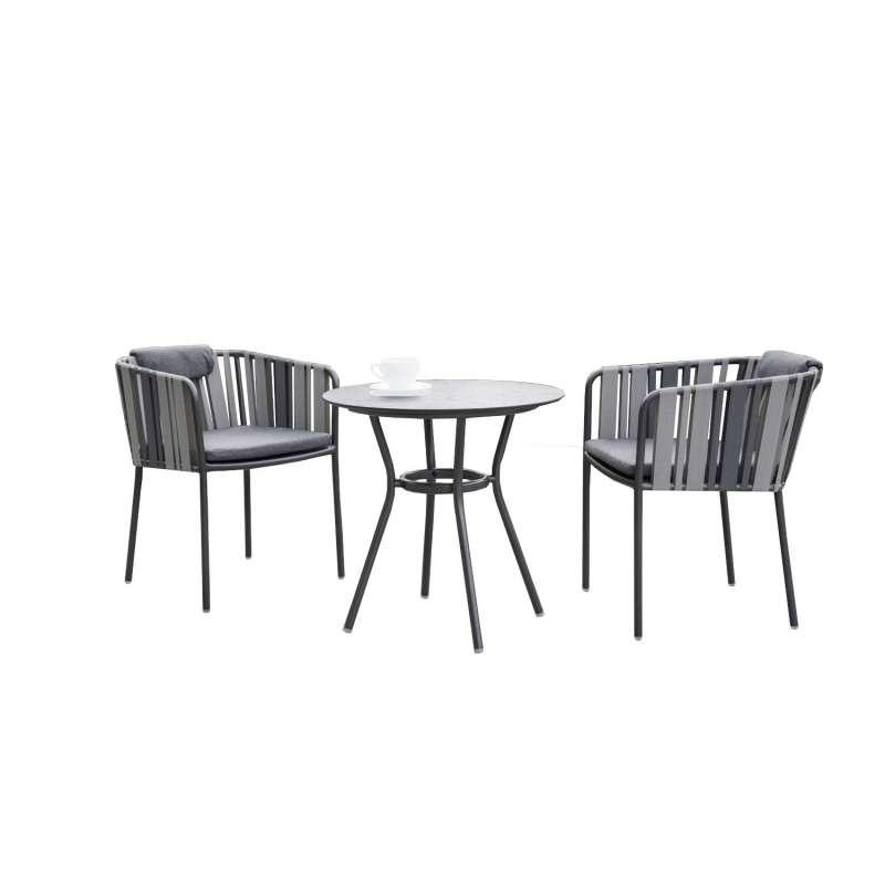 Stern 3-teilige Sitzgruppe Space mit Tisch Ø 68 cm Balkonset Loungeset
