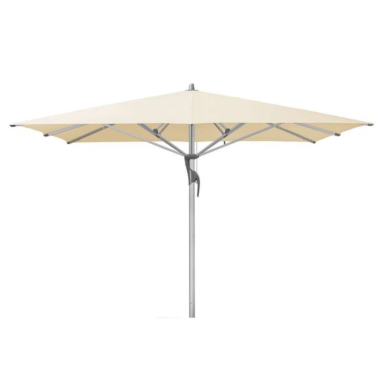 GLATZ Sonnenschirm FORTELLO® LED easy 350 x 350 cm Stoffklasse 2 Eggshell 150