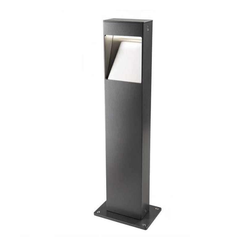 Heibi Wegeleuchte STRATO Aluminium graphitgrau/Klarglas 15x10x50 cm LED 3000 K Außenleuchte