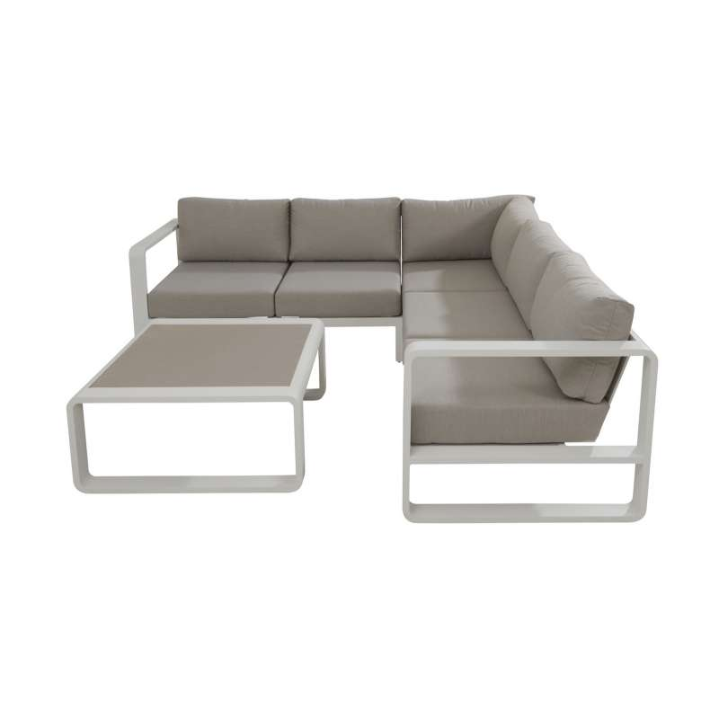 Aqua-Saar Kingston Ecklounge Luxuslounge Diningsofa 4-teilig Loungesofa SET