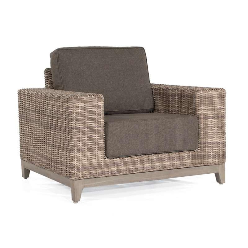 Sonnenpartner Lounge-Sessel Thor Aluminium mit Polyrattan white-coral Loungesessel