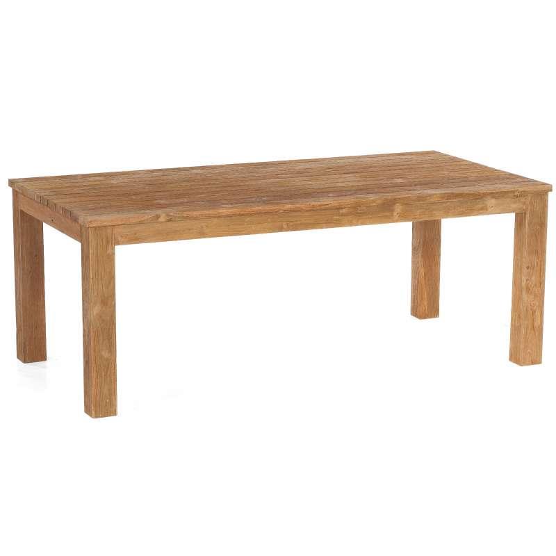 Sonnenpartner Gartentisch Charleston 200 x 100 cm Teakholz Holztisch 80050715