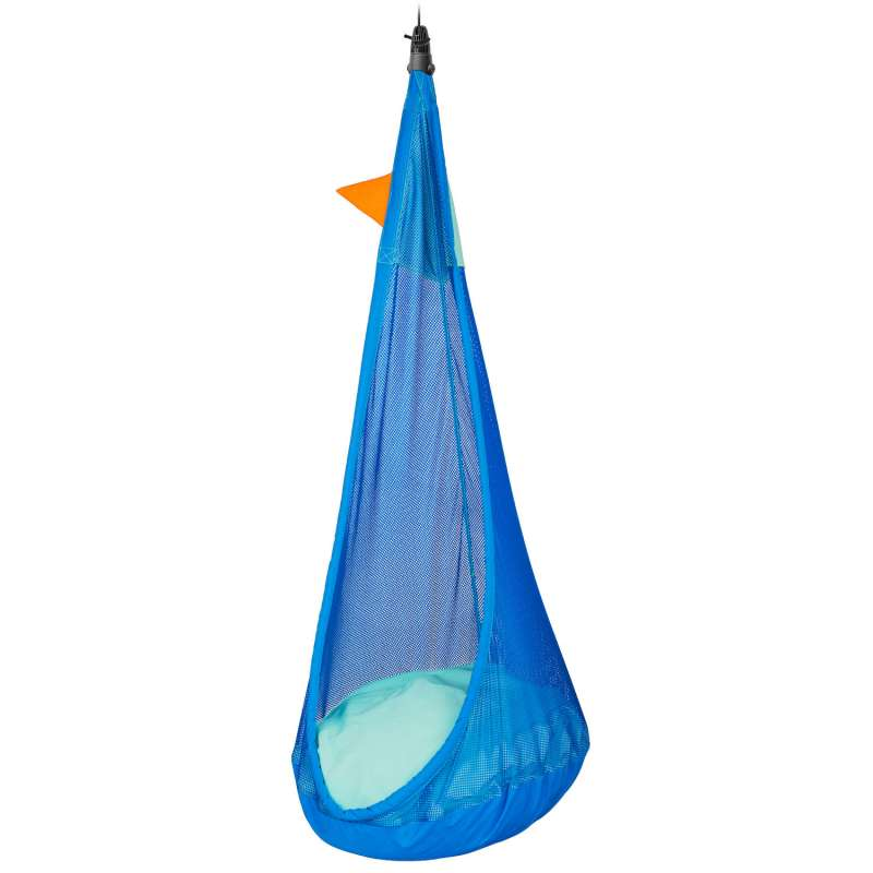 La Siesta Kinder-Hängehöhle JOKI AIR MAX moby blau wetterbeständig inkl. Befestigungsmaterial