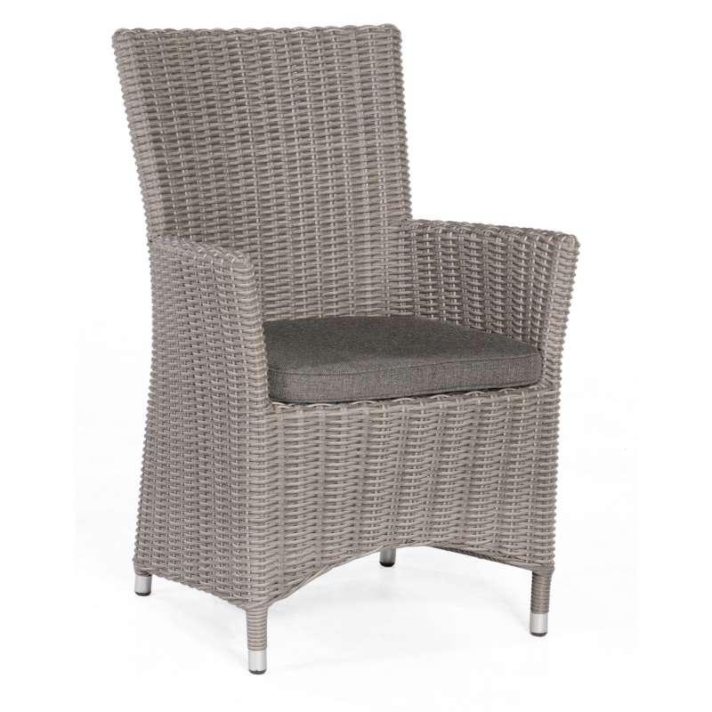 Sonnenpartner Garten-Sessel Ikarus Aluminium mit Polyrattan stone-grey Gartenstuhl