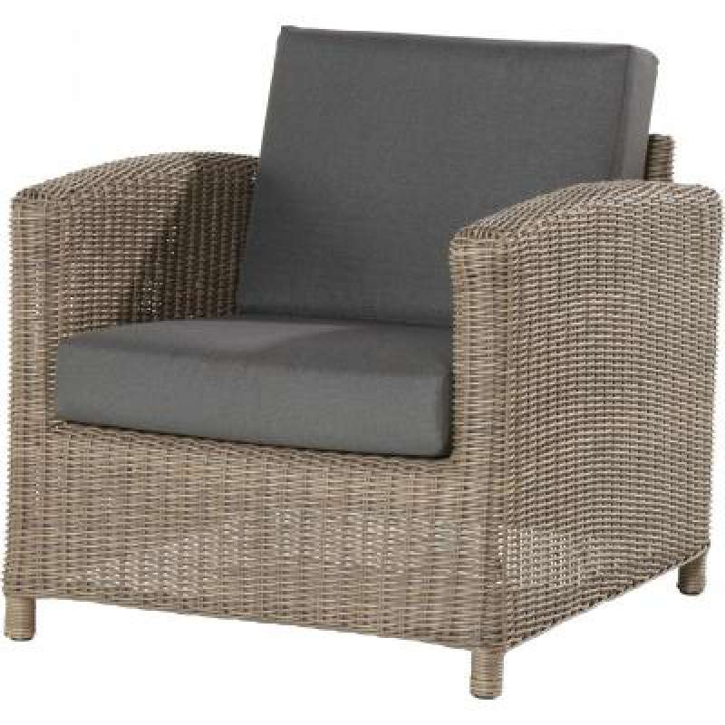 4Seasons Outdoor Lodge Living Sessel Polyrattan pure wicker inkl ...