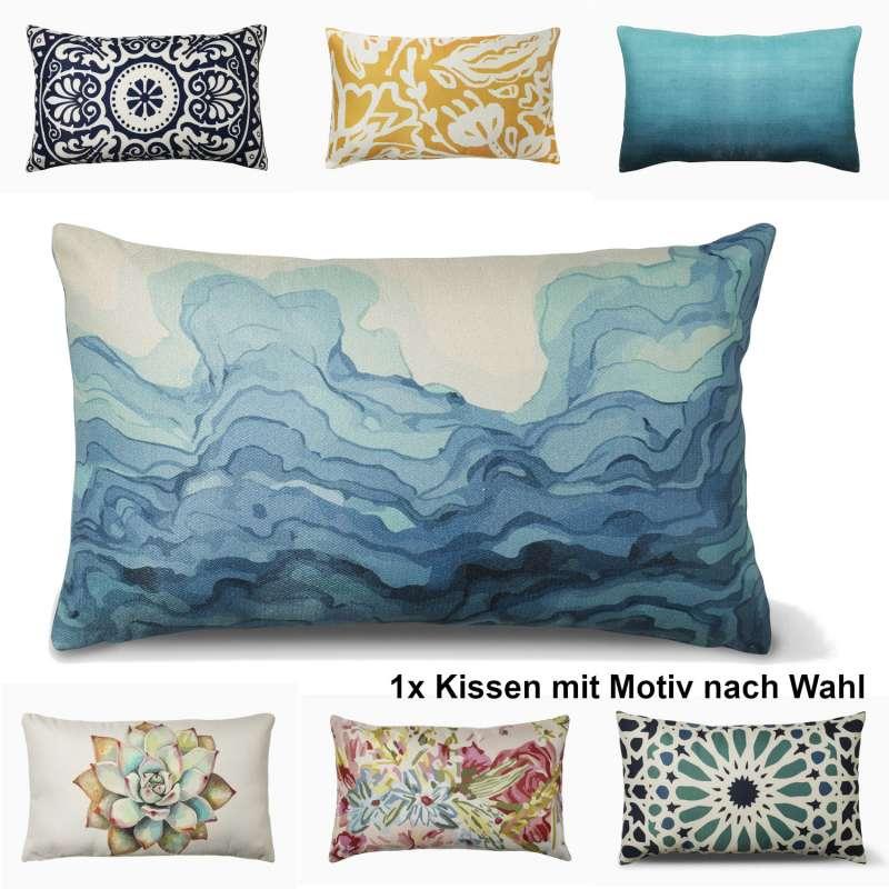 Fab Hab Dekokissen Indoor/Outdoor 35x60 cm aus recyceltem PET in 7 verschiedenen Designs