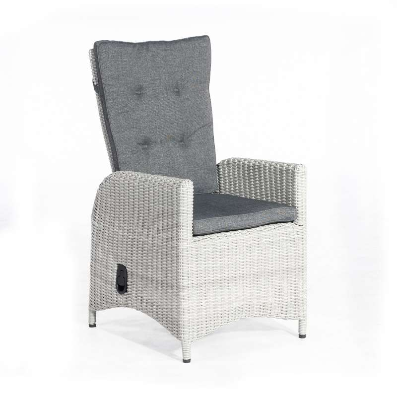 SunnySmart Dining-Sessel Para-Plus Aluminium mit Kunststoffgeflecht silber-grau Gartenstuhl