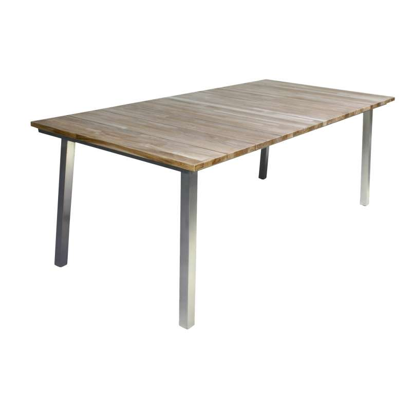 4Seasons Outdoor Maison Teakholz/Edelstahl Gartentisch ausziehbar 210-280 x 99 cm Tisch Ausziehtisch