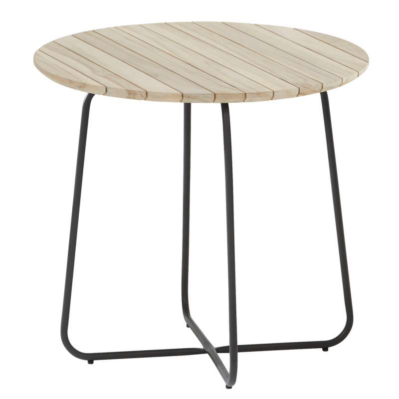 4Seasons Outdoor Axel Beistelltisch Ø 45 x 55 cm Sidetable Tisch Teak