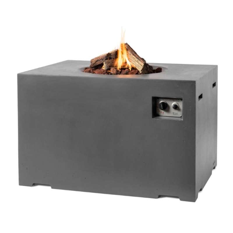 Happy Cocooning Mania Feuertisch Lounge&Dining 19,5 kW rechteckig 107x80x67 cm Beton-Optik grau