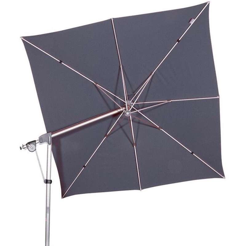 Doppler Protect Pendel 300 x 300 cm Sonnenschirm Anthrazit 840 Pendelschirm Ampelschirm