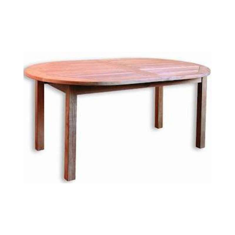 Inko Teakholz-Auszugstisch Bombay oval 180/230x100x75 cm Tisch ausziehbar Holztisch
