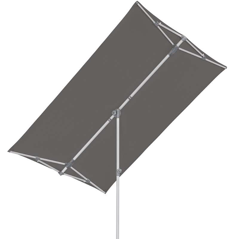 GLATZ Sonnenschirm SUNCOMFORT® Flex Roof eckig 210x150cm Stoffklasse 1 Stone Grey 057