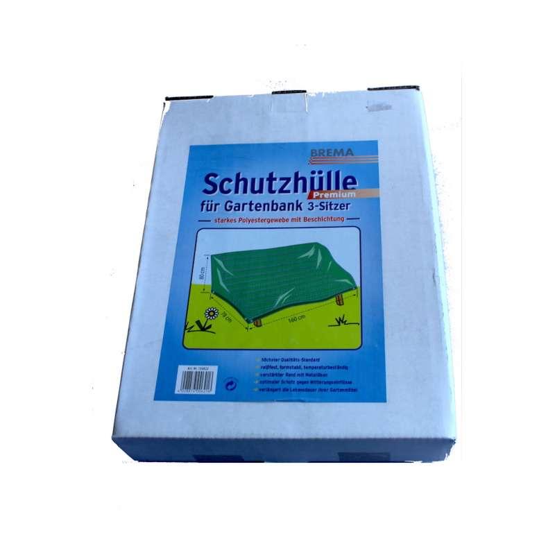 Brema Schutzhülle ca 160x78x80 cm Premium grün Gartenbank 3-Sitzer Schutzhaube