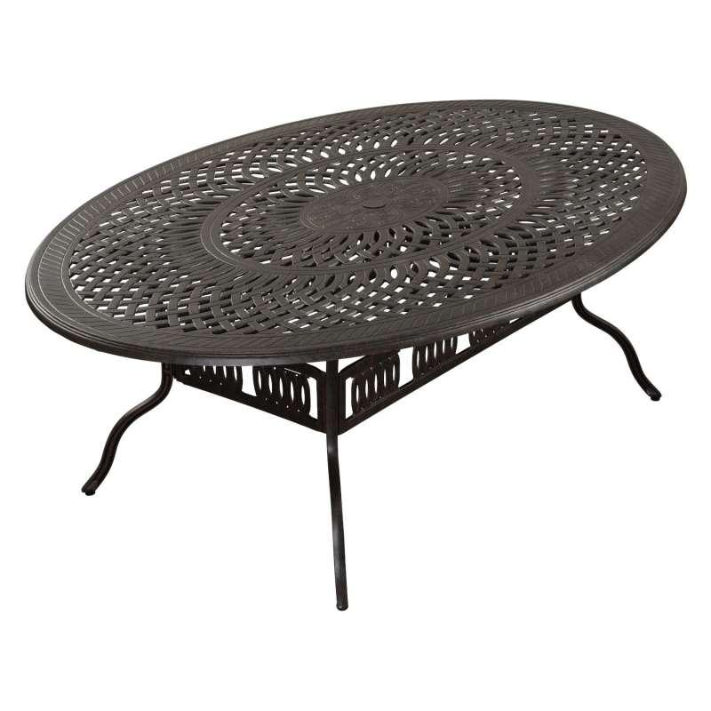 Inko Gartentisch Alu-Guss bronze rund/oval/eckig Größe nach Wahl Terrassentisch