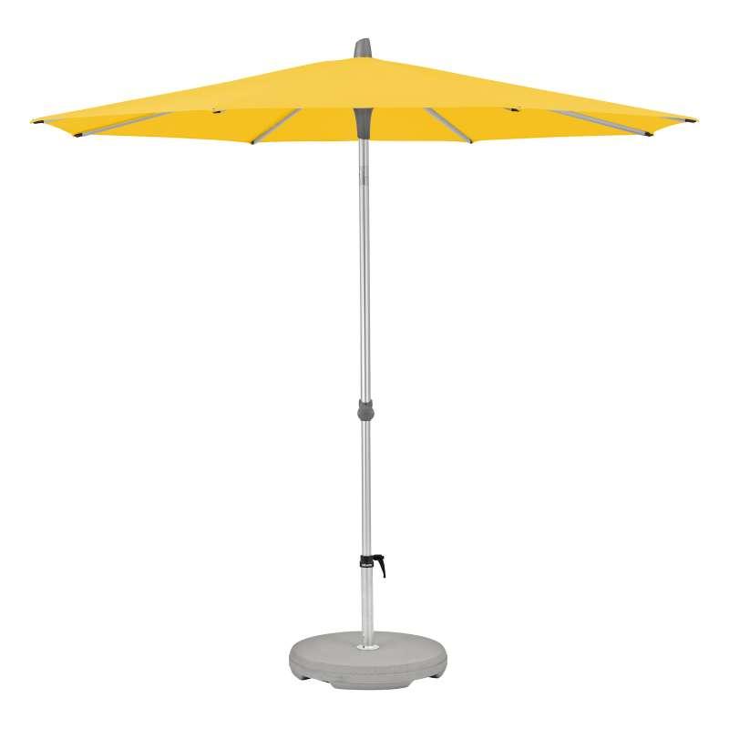 GLATZ Komplettset Sonnenschirm ALU-SMART inkl. Sockel ø 300 cm Bright Yellow 146
