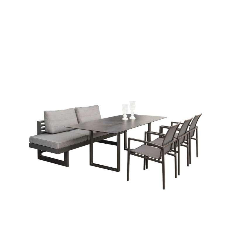 Stern 7-teilige Dining-Sitzgruppe New Holly/Skelby mit Kufentisch 200x100 cm Loungegruppe