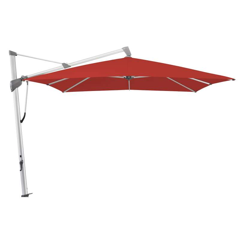 GLATZ Sonnenschirm SOMBRANO® S+ 350 x 350 cm Stoffklasse 4 Carmine 403