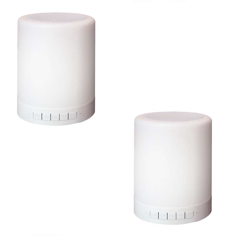 Smooz CAN 2 Stück Smoozlights Leuchte Lautsprecher 3,0 W LED Bluetooth Lampe