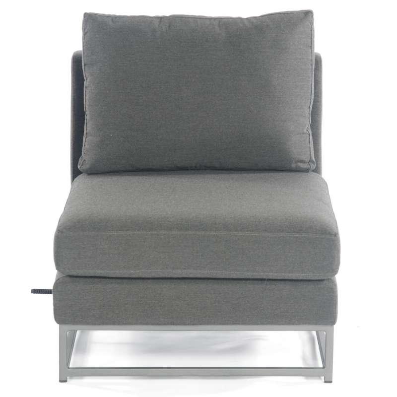 Sonnenpartner Lounge-Mittelmodul Unique Aluminium mit Kissen anthrazit Loungesessel Sunbrella