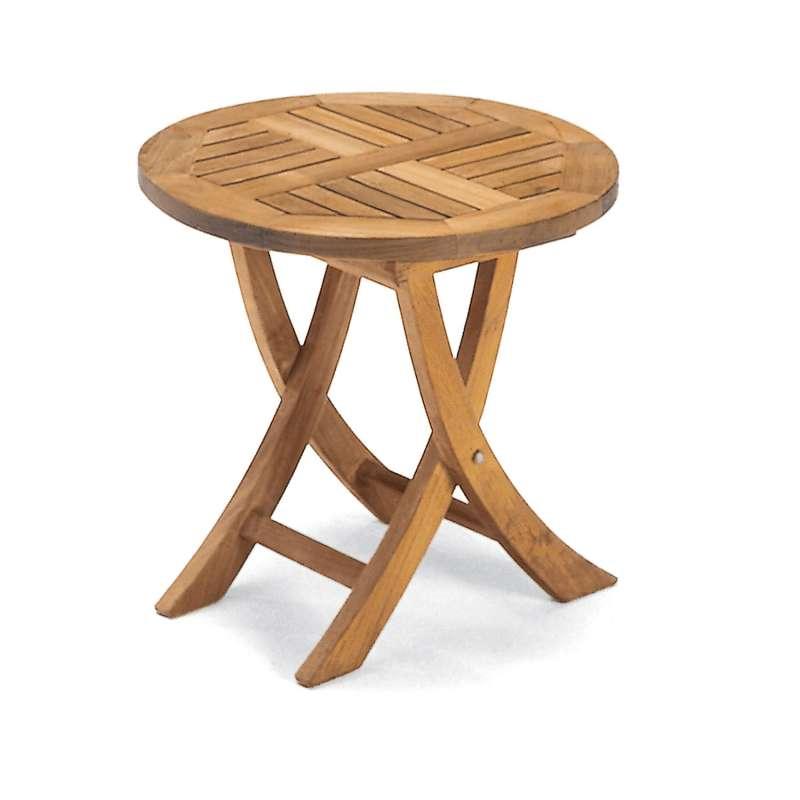 Sonnenpartner Beistelltisch Roundside Ø 51 cm Teakholz Old Teak Tisch Gartentisch