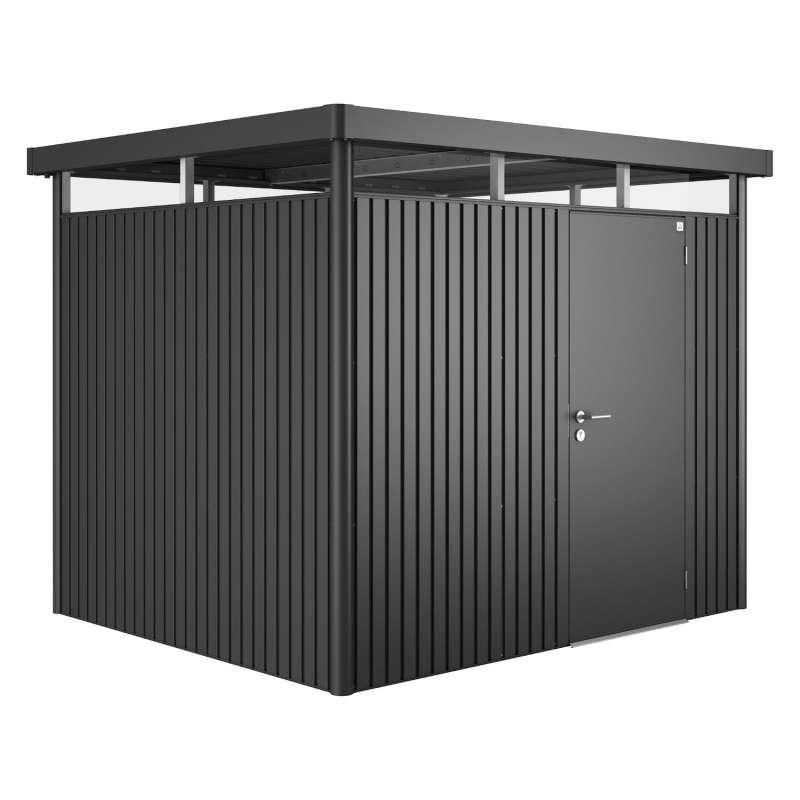 Biohort Gartenhaus Highline® mit Standardtür dunkelgrau-metallic 6 verschiedenen Größen Gerätehaus