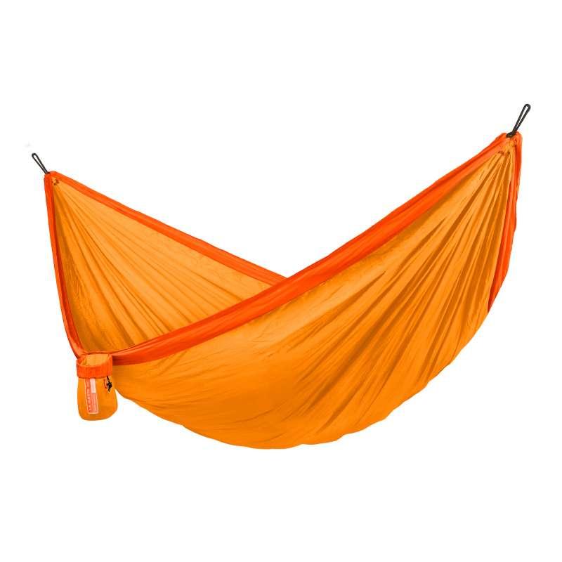 La Siesta Reise-Hängematte COLIBRI 3.0 sunrise orange Doppel-Reisehängematte inkl. Befestigungsmater