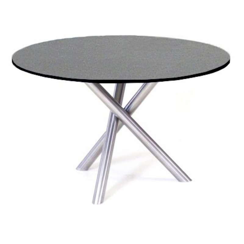 SIT Mobilia Gartentisch Tubo Edelstahl/wählbare Tischplatte rund Ø 120 cm Tisch Terrassentisch