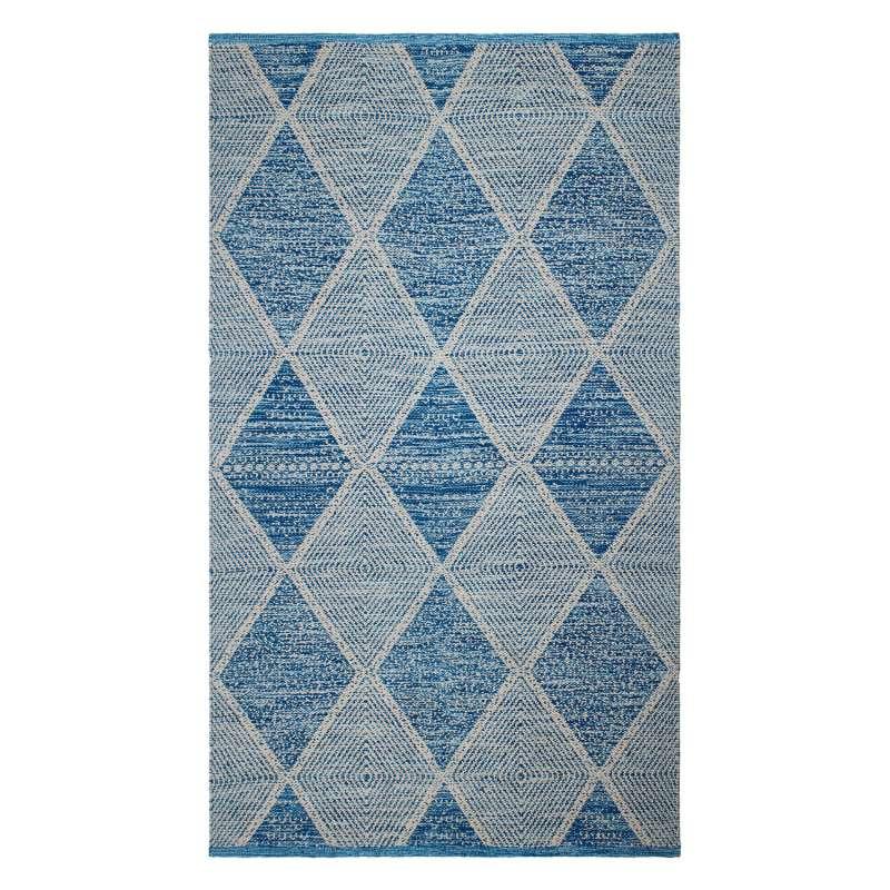 Fab Hab Outdoorteppich Hampton Blue aus recycelten PET-Flaschen blau 180x270 cm