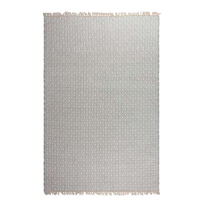 Fab Hab Outdoorteppich Lancut Gray aus recycelten PET-Flaschen grau 120x180 cm