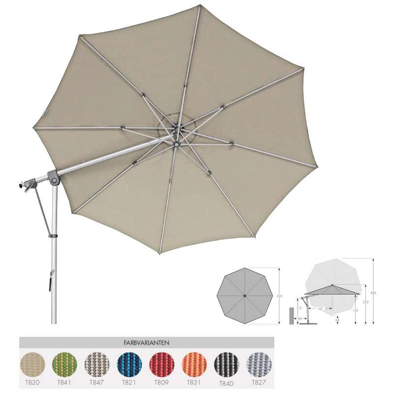Doppler Expert 350 Pendelschirm Sonnenschirm 8 Farbvarianten Ampelschirm 438247