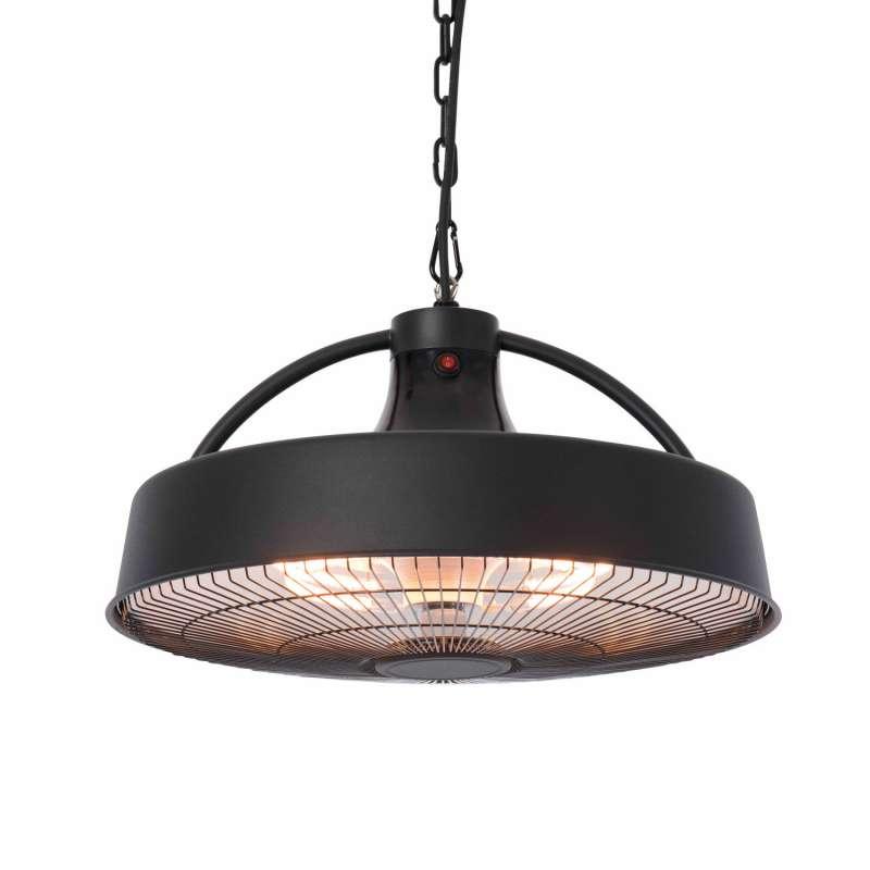 OutTrade Sunred Heizstrahler Retro schwarz 1500W Halogenstrahler zur Deckenmontage hängend hanging