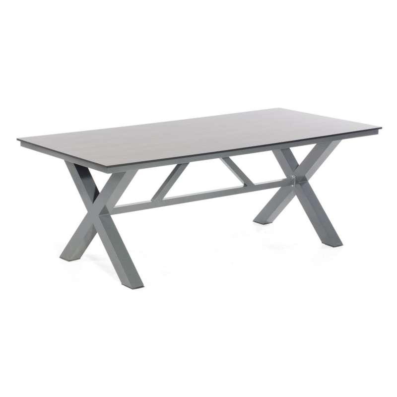 Sonnenpartner Gartentisch Base-Spectra 200x100 cm Aluminium anthrazit Tischsystem mit wählbarer Tisc