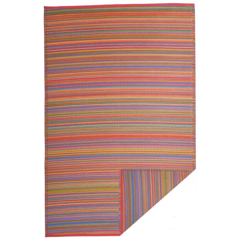 Fab Hab Outdoorteppich Cancun Multicolor aus recyceltem Plastik bunt 240x300 cm