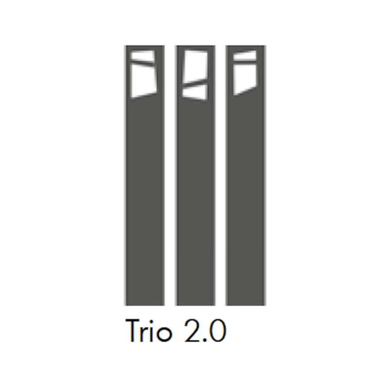Mecondo 3er-Set OSAS TRIO 2.0 Stelen 150 cm Cortenstahl/Edelstahl/Stahl Gartendekoration