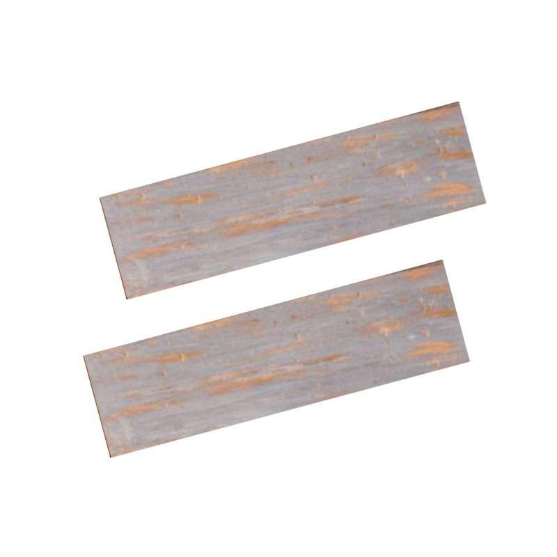 Happy Cocooning Mania 2 Seitentische für Feuertisch quadratisch/rechteckig 74x16,5x2 cm Teakholz Nic