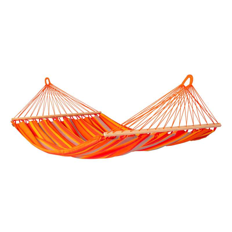 La Siesta Doppel-Hängematte ALISIO toucan orange Stabhängematte ALR16-28 optional mit Gestell