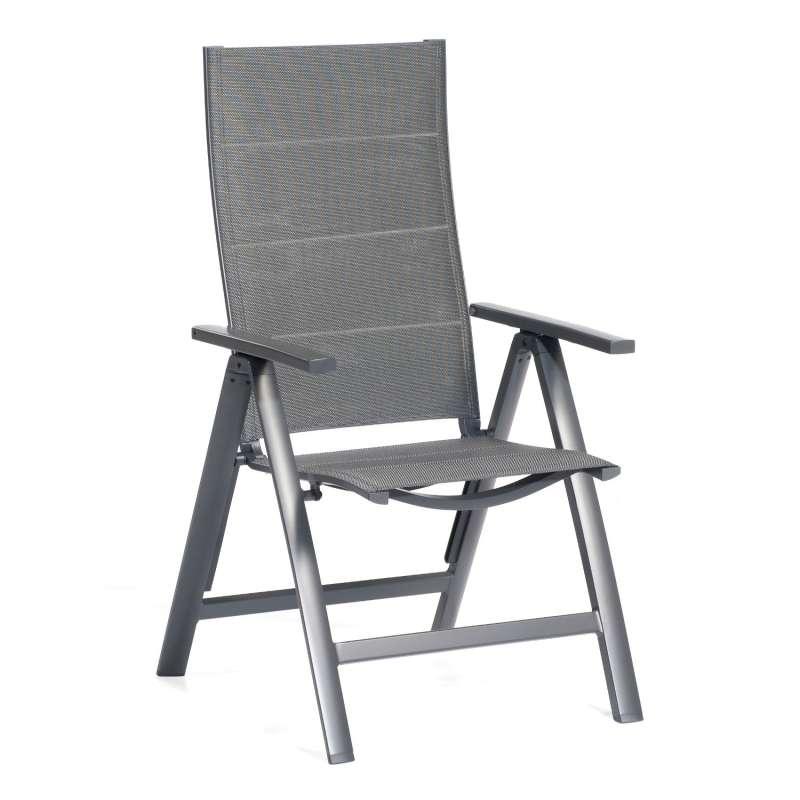 SunnySmart Garten-Klappsessel Concept Aluminium mit Polstertextilgewebe anthrazit Gartenstuhl
