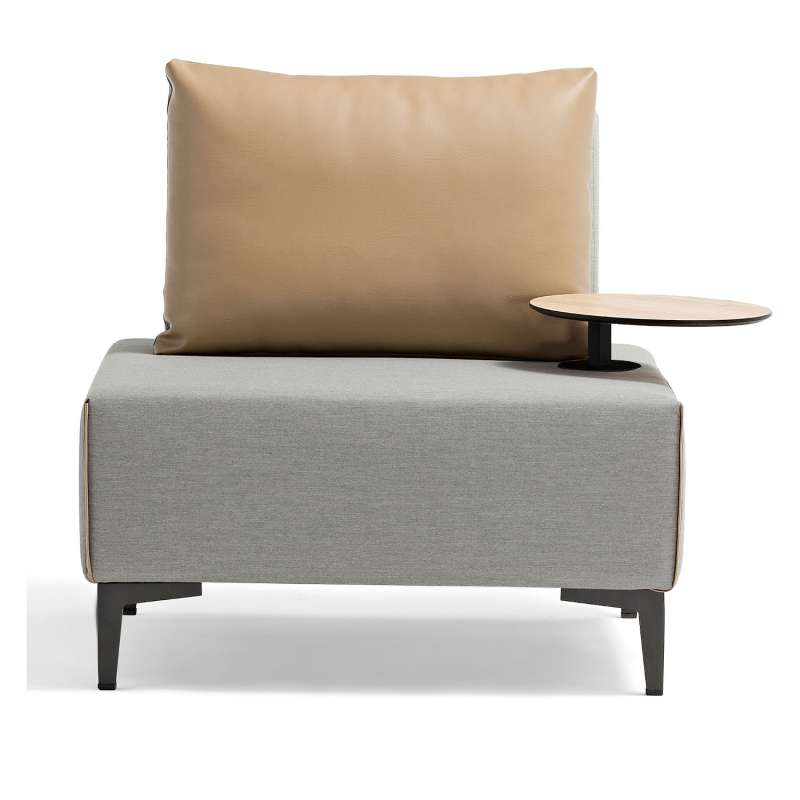 Inko Multifunktions-Sessel Lavacca light grey/caramell variables Loungesessel Outdoorsessel 85x85x42