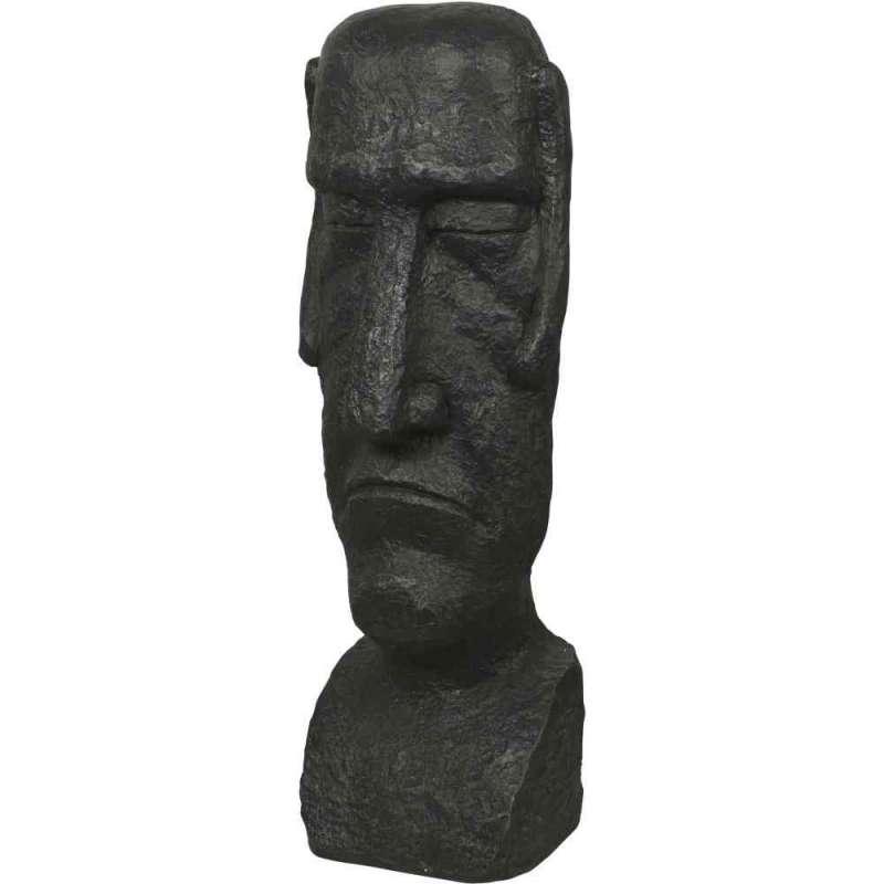 Gartenfigur Osterinsel Dekofigur Moai Kopf Skulptur Kunstharz 110 cm 398921