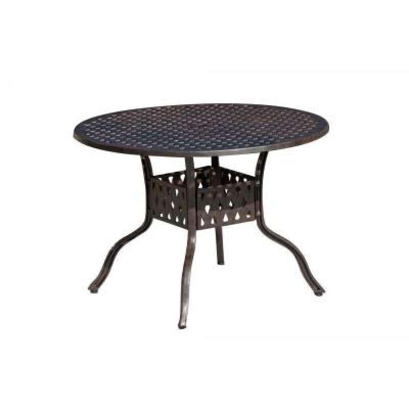 Inko Aluguss Tisch Nexus Bronze rund 106 cm Gartentisch TAG 201-B