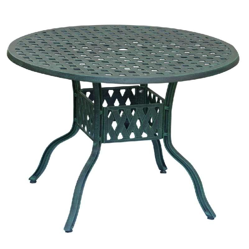 Inko Aluguss Tisch Nexus Grun Rund 120 Cm Gartentisch Tag 202 G