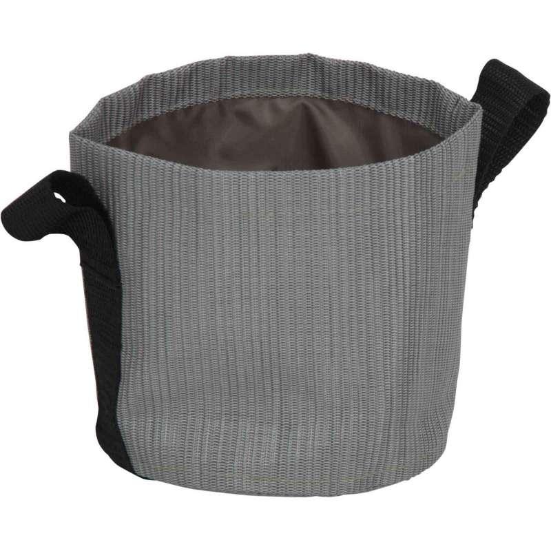 Stern Übertopf Textilen silber Ø 15 cm Textilübertopf
