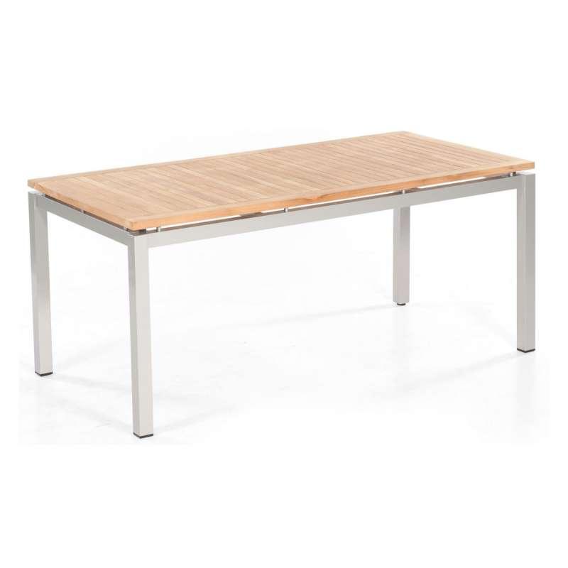 Sonnenpartner Gartentisch Base 160x90 cm Aluminium silber Tischsystem mit wählbarer Tischplatte HPL