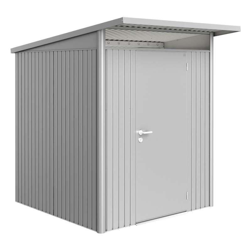 Biohort Gartenhaus AvantGarde® mit Standardtür silber-metallic 8 verschiedenen Größen Gerätehaus