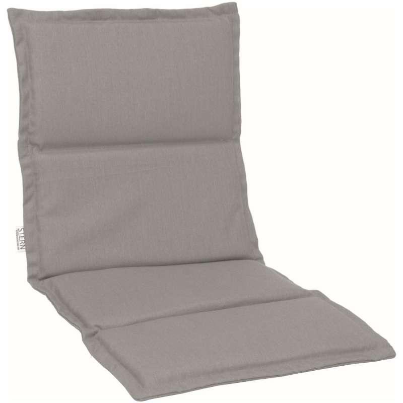 Stern Auflage für Stapelsessel Outdoorstoff graubraun uni 93x46 cm Universalauflage Sitzkissen