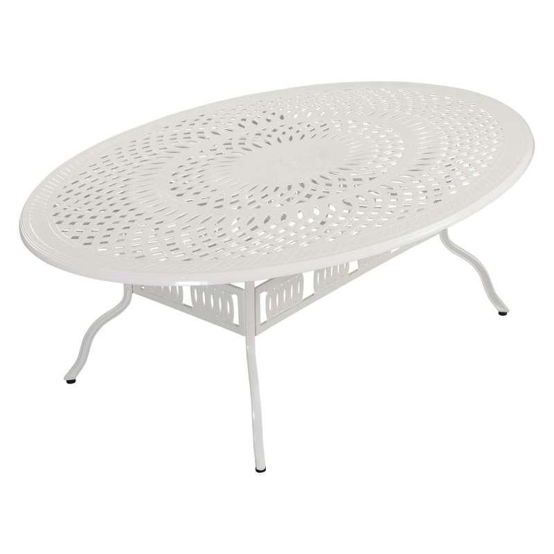 Inko Gartentisch Alu-Guss weiß rund/oval/eckig Größe nach Wahl Tisch Terrassentisch