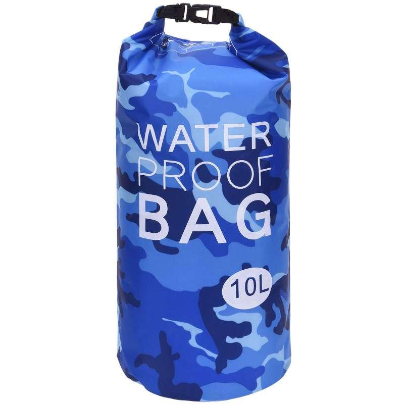 Drybag 10L Tasche 10 Liter wasserdicht Packsack Camouflage blau Water proof Softcase